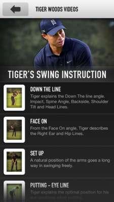 tiger woods app 2 5 ứng dụng phân tích swing hay nhất trên điện thoại để đánh Golf